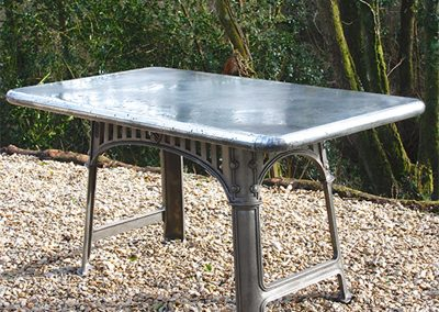 Bespoke Zinc Topped Table
