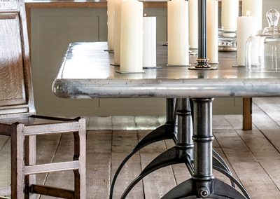 Bespoke Designs - Zinc Topped Table