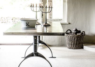 Ready-to-go Designs - Zinc Topped, Hand Made Tables