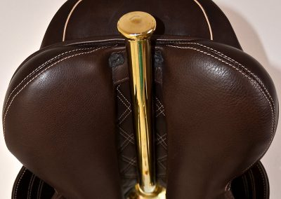 Equestrian - Wall Mounted Saddle Rack, Featuring Bliss of London Saddle