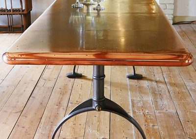 Bespoke Designs - Hand Made Copper Topped Table