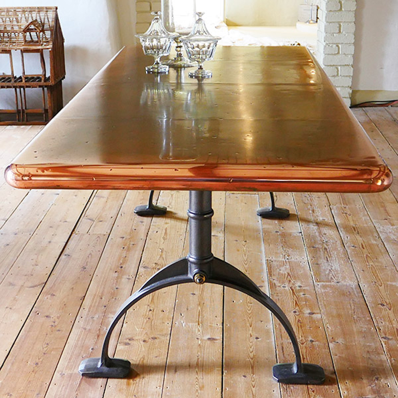 Copper Top Table   Zinc Table   Dining Table   Andrew ...