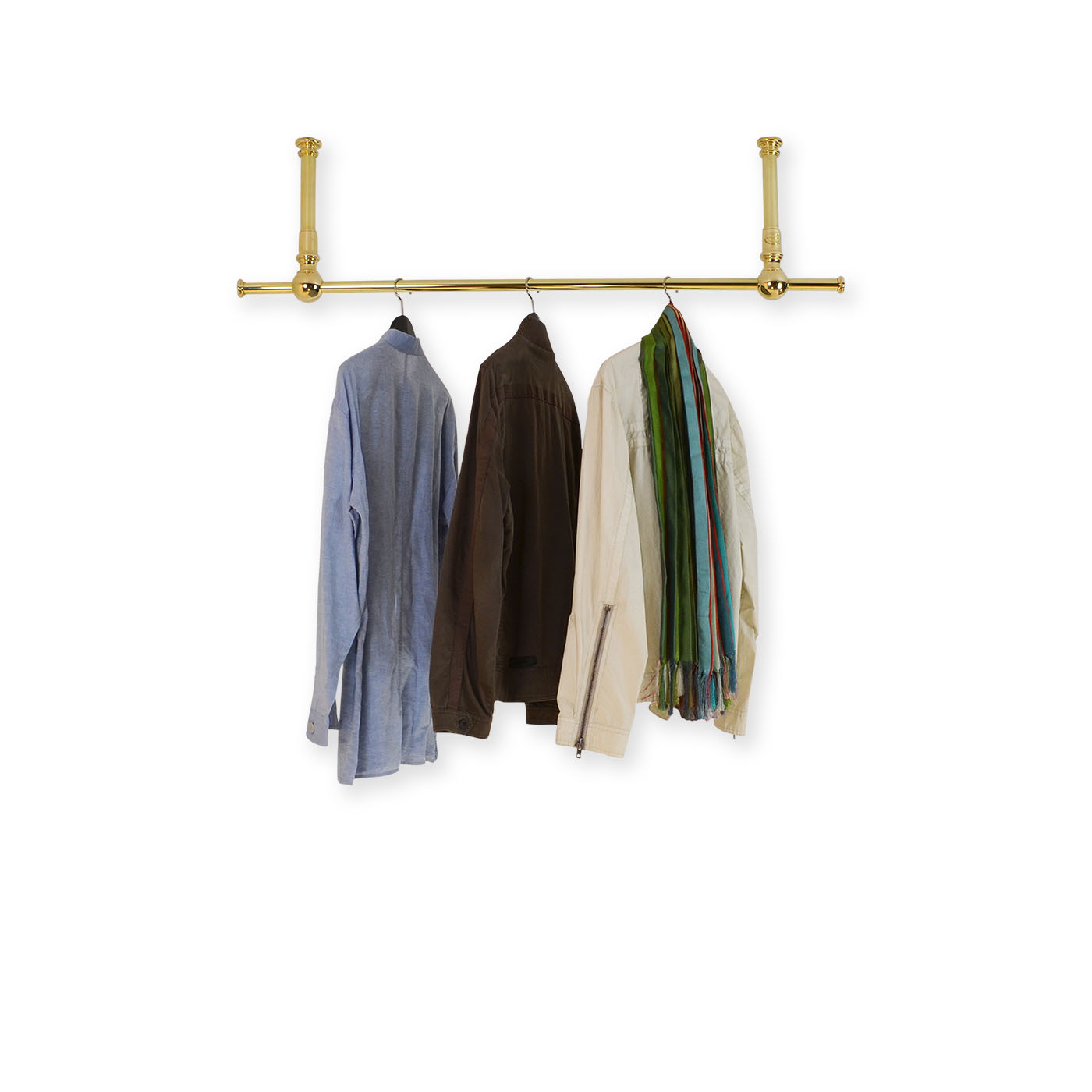 Solid Brass Ceiling Mounted Rail Andrew Nebbett Designs