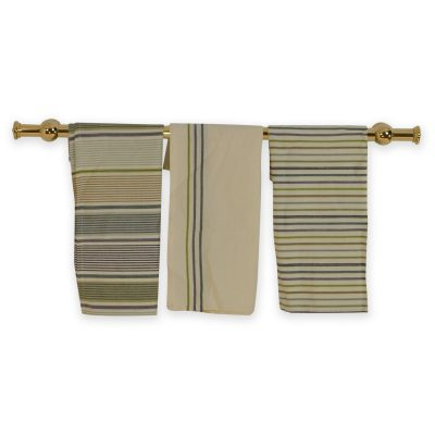 Range Kitchen Rail Rack Brass Towel Hanger