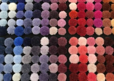 Carpet samples from Rug Couture