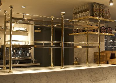 Bespoke Brass Display Installations