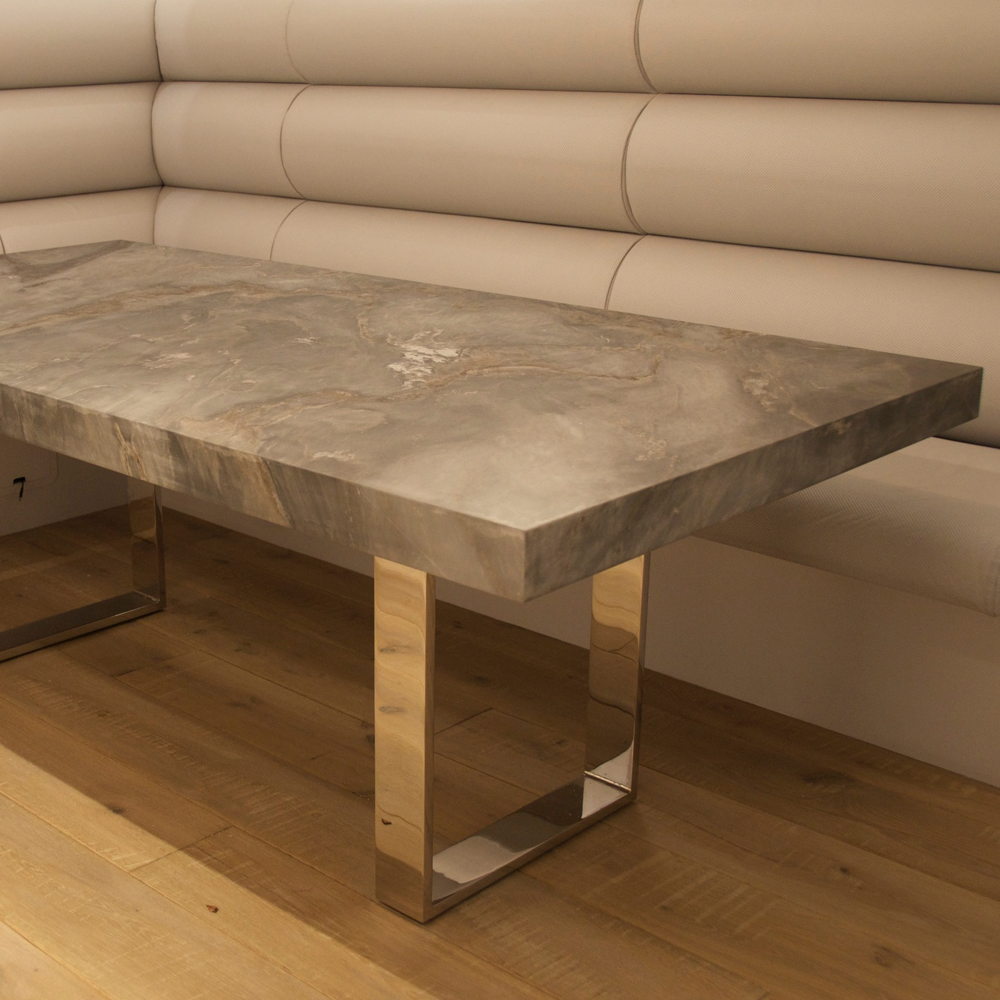 Bespoke dining table design - Bespoke Contemporary Marble And Stainless Steel Dining Table