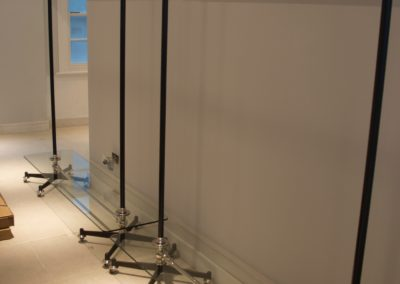 Custom made hanging clothes rail for retail boutique Dolly Lloyd
