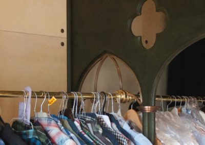 Bespoke period style dressing room hanging system
