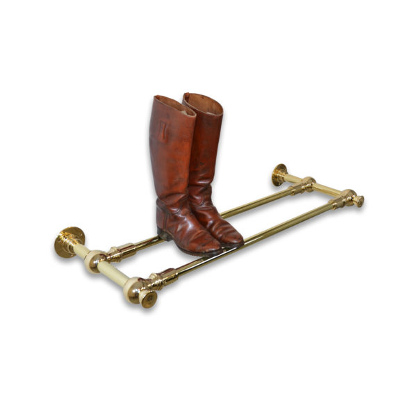 AND solid brass boot or shoe rack