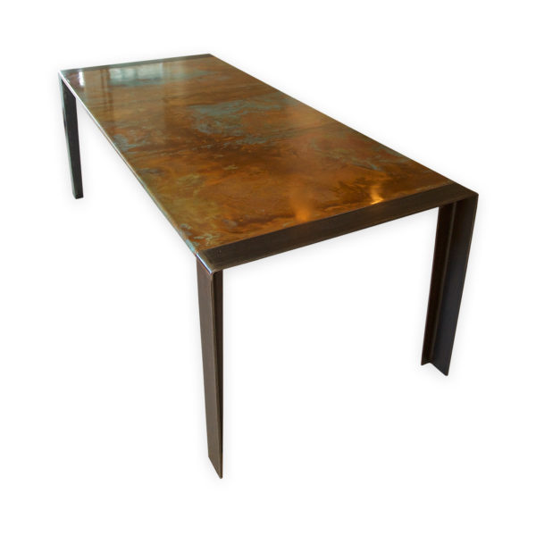 Copper Top Table Zinc Table Dining Table Andrew Nebbett Designs