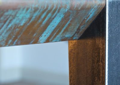 Andrew Nebbett Designs Contemporary Patinated Copper Dining Table