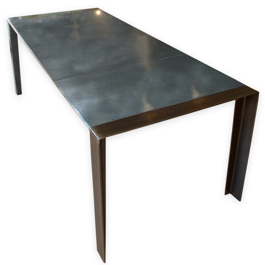 Contemporary zinc dining table