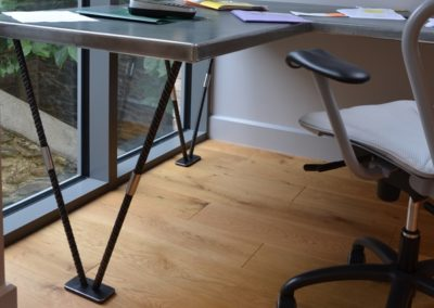 Andrew Nebbett Designs Industrial zinc top desk