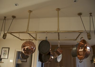 AND Brushed Brass Kitchen Pan Rack