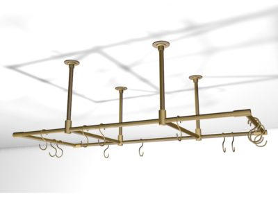AND Brushed Brass Pot Rack 3D Visual
