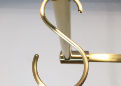 AND Brushed Brass S Hook