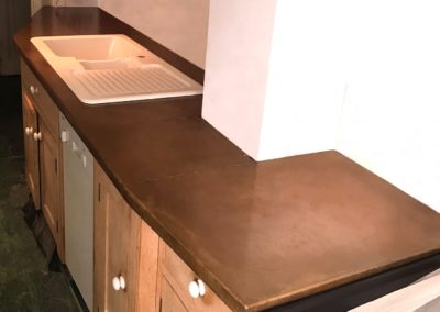 AND bespoke antique copper kitchen worktop made to measure