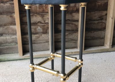 AND bespoke steel and polished brass bar stool designs (seat cushion example only)