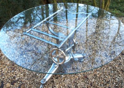Andrew Nebbett Antique Veterinary Table glass top