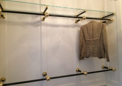 Andrew Nebbett Designs Clasical Style Dressing Room Clothes Rails and shelf system