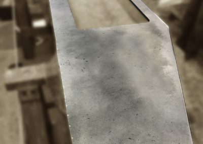 Andrew Nebbett Designs antique patinated zinc kitchen worktop