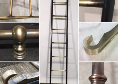 Andrew Nebbett Designs antique style hook-on library ladders and rails