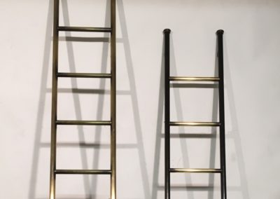 Andrew Nebbett Designs antique style metal hook-on library ladders and rails