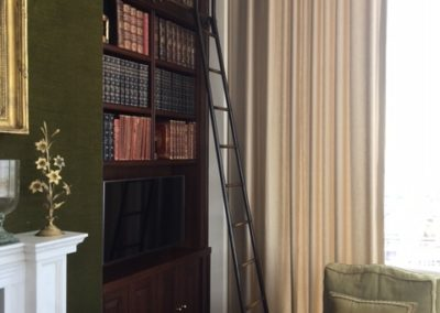 Andrew Nebbett Designs bespoke antique style hook-on library ladder