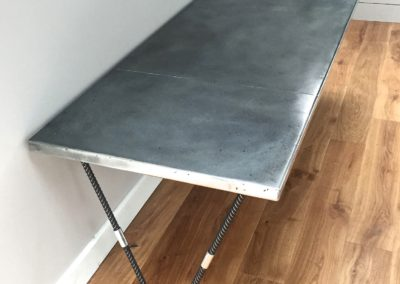 Andrew Nebbett Designs bespoke zinc worktop breakfast bar