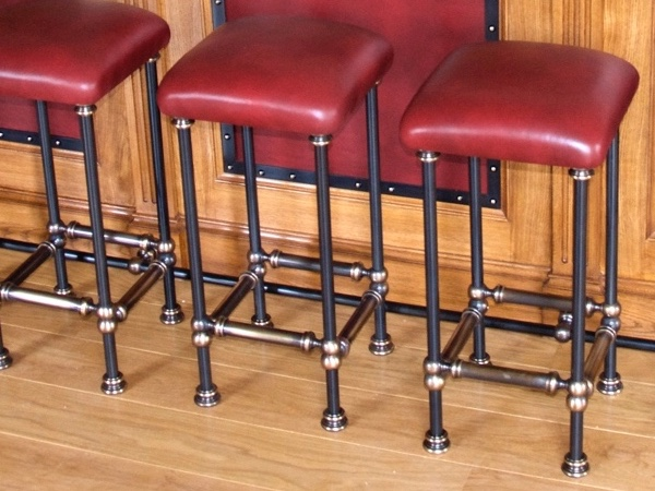Custom-Made Bar Stools For Private Hunting Lodge
