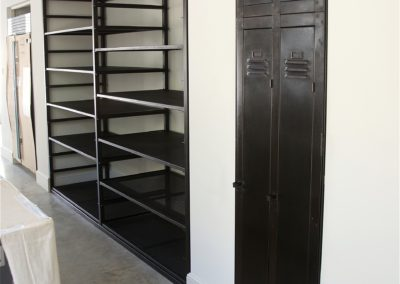 AND bespoke kitchen shelving and pantry door