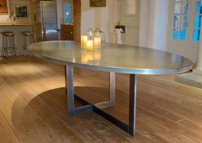 Andrew Nebbett Designs Contemporary Oval Zinc Table