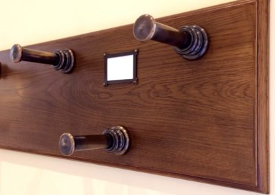 Andrew Nebbett Designs custom made antique finished gun rack