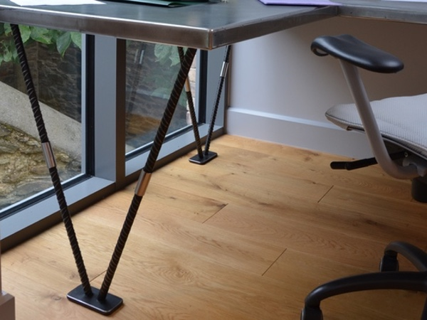 Custom-Made Industrial Style Zinc Top Desks