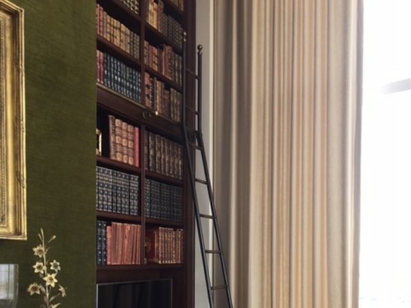 Tall Bespoke Library Ladder