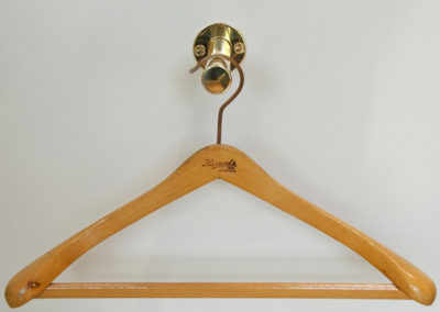 Andrew Nebbett Designs Polished Brass Extending Valet Hook for hanger