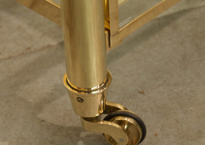 Andrew Nebbett Designs solid brass and glass drawer trolley unit