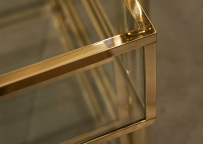 Andrew Nebbett Designs solid brass and glass drawers