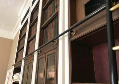 Andrew Nebbett Designs bespoke made & designed rolling library ladder solutions for private and commercial clients