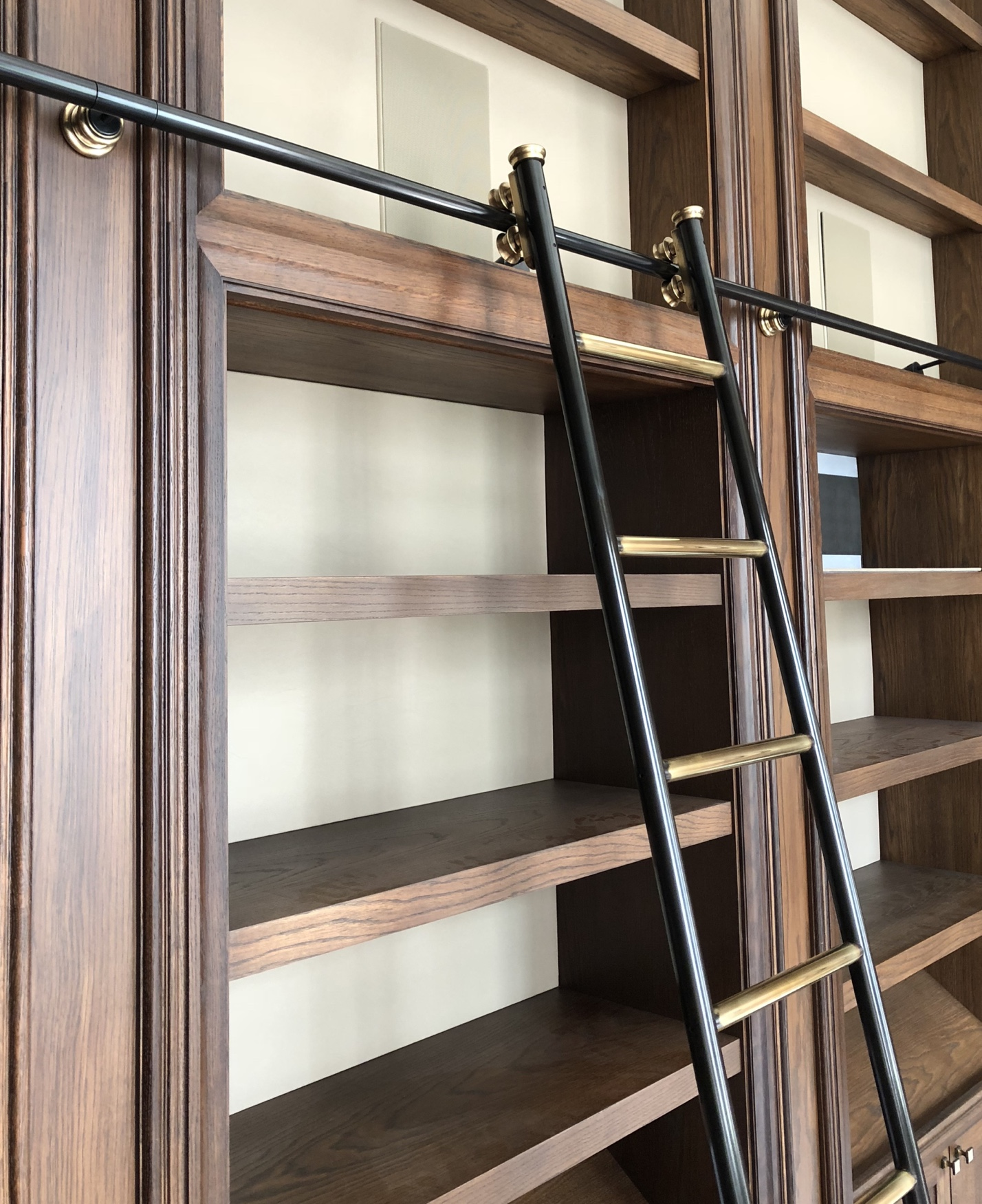 Custom Designed Made Rolling Library Ladders Andrew