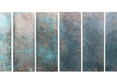 Andrew Nebbett Designs bespoke verdigris patinated copper clad doors