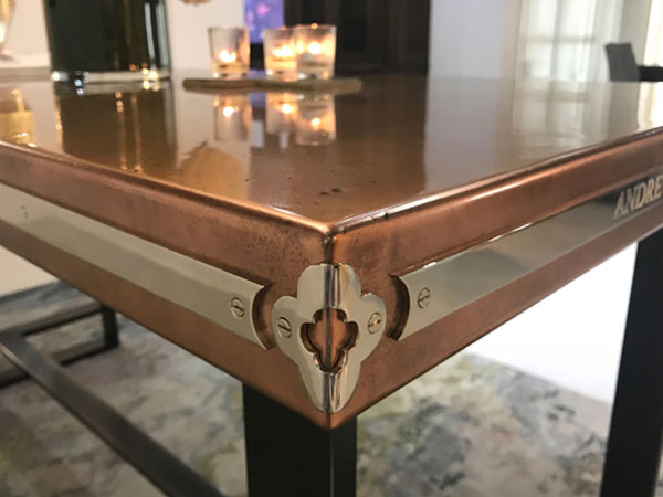 Antique Patinated Copper Dining Table