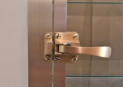 Brushed Brass Glass Cabinet Door Latch