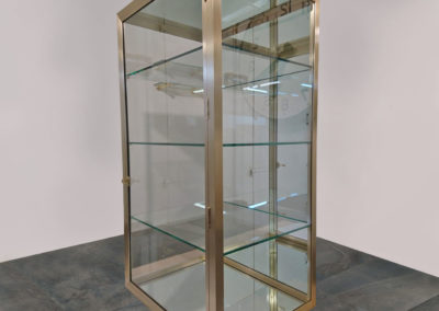 Luxury Designer Brass and Glass Cabinet Display