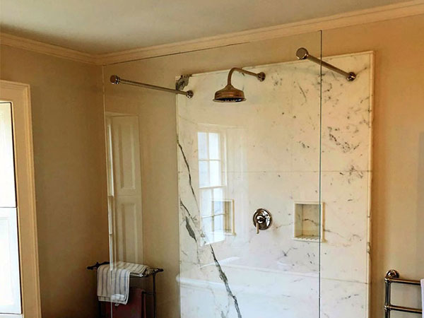 Custom Made Supports For Glass Shower Screen